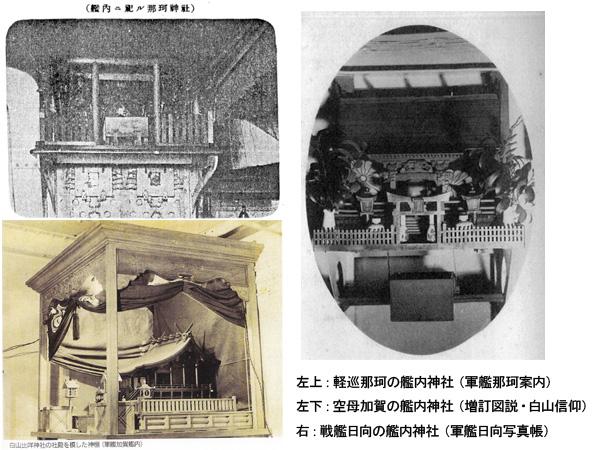 艦内神社の神殿の例